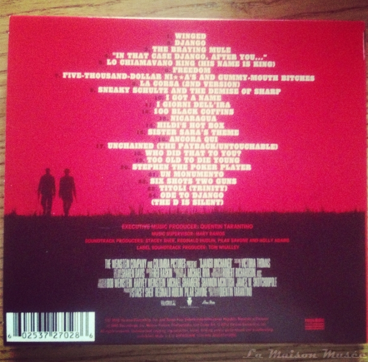 Django Unchained Soundtrack Cover CD