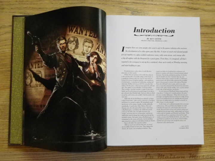 Introduction by Ken Levine Artbook Infinite