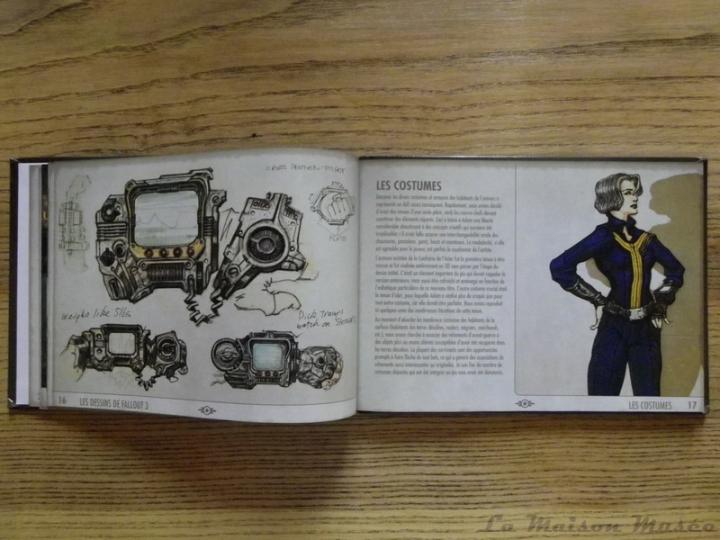Les dessins de Fallout 3 Artbook Costume Abri 101