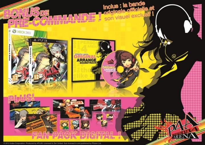 Persona 4 Bonus Précommande Europe
