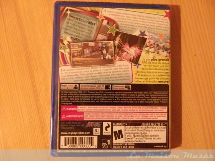 Persona 4 The Golden PS Vita - Arrière de la boite