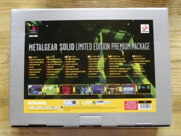 Boite Arrière Premium Package MGS 1 PS1 PAL