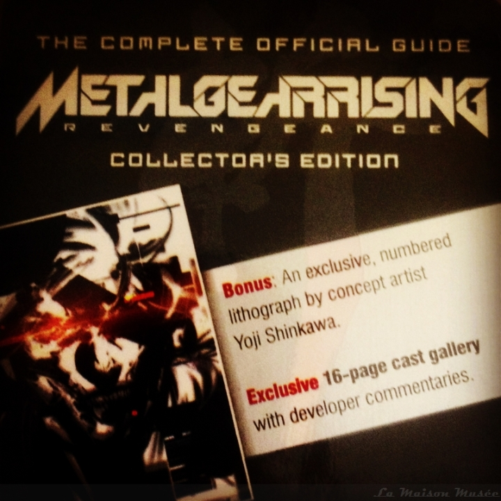 Metal Gear Rising Revengeance Guide Collector Contenu