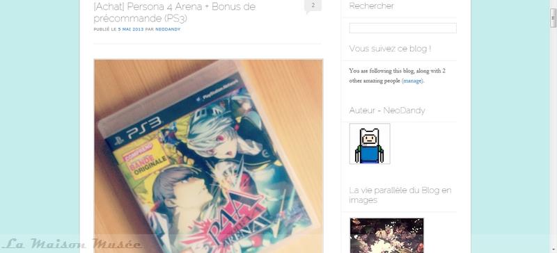 Contenu Persona 4 Arena PS3