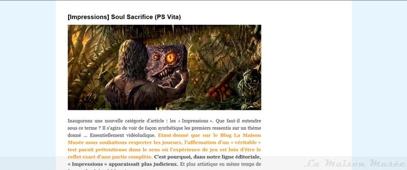Test Soul Sacrifice PS Vita