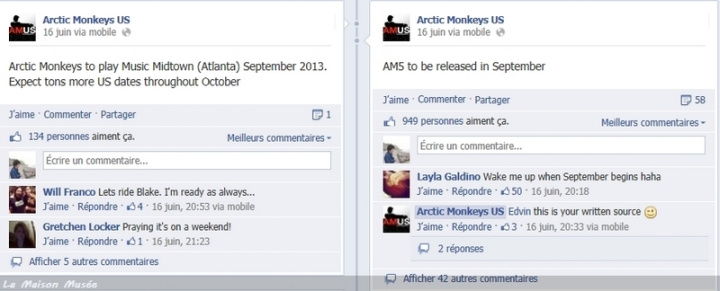 Arctic Monkeys Date de Sortie Album 2013