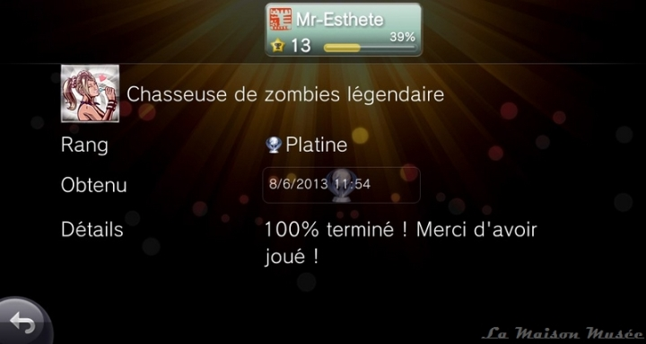 Difficulte Platine Lollipop Chainsaw