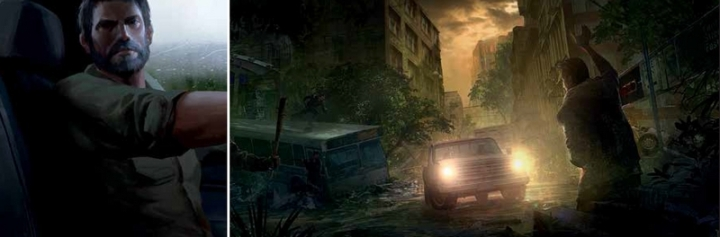 Joel Artwork the last of us