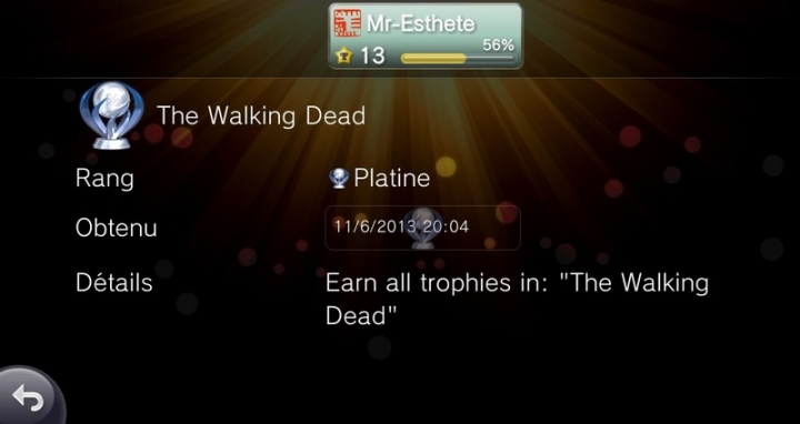 PlatinumTrophie The Walking Dead