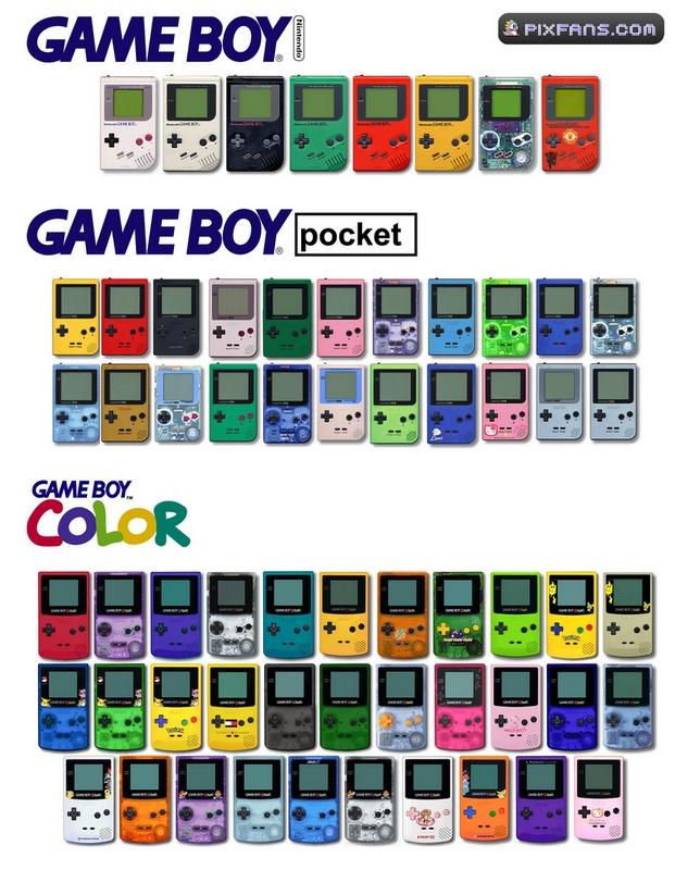 Game Boy Color Modeles sortis