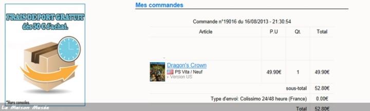 Dragon Crown Vita USA Import
