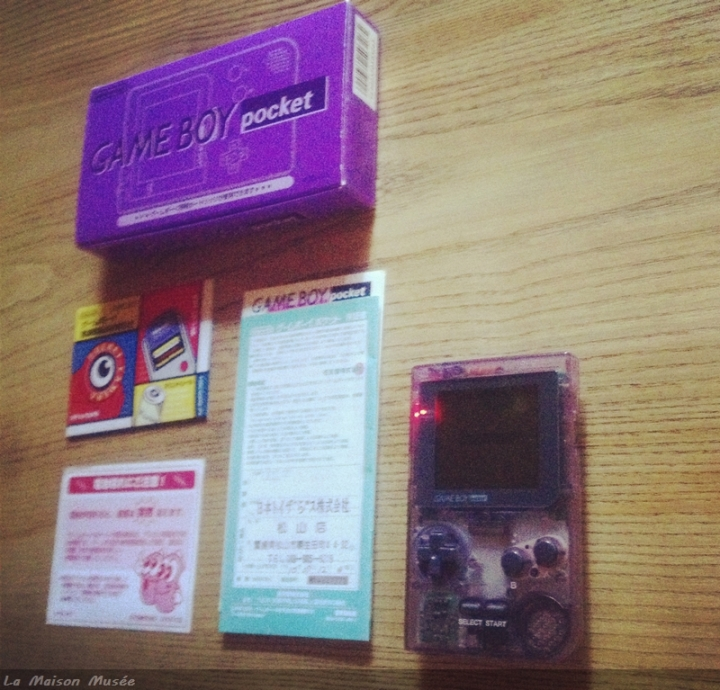 Clear Purple Collection Game Boy