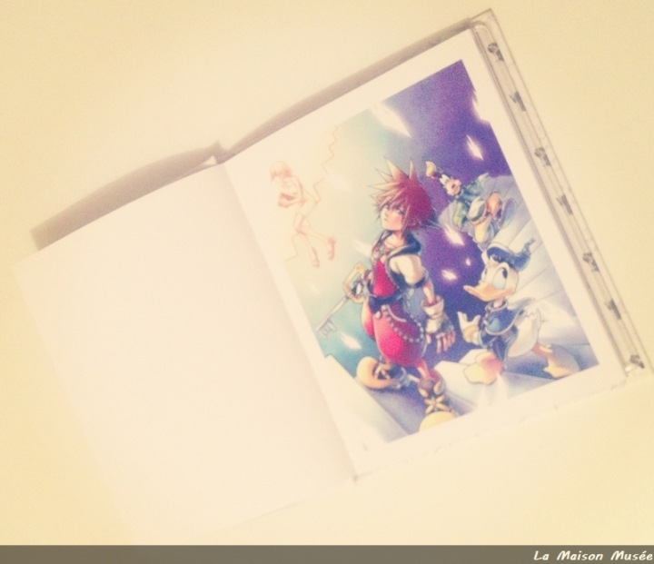 L'Artbook s'ouvre sur un somptueux artwork révélateur : malheureusement connu dans l'univers artistique de Kingdom Hearts.