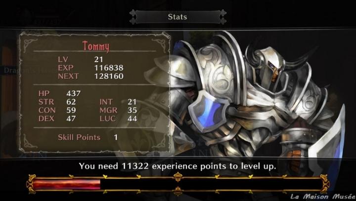 Skill Quete Chevalier Dragon's Crown