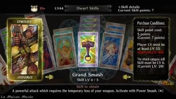 Ici, les 5 cartes contribuent à un niveau maximum.