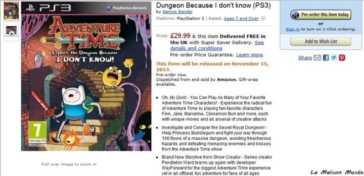 Amazon.co.uk Adventure Time Precommande