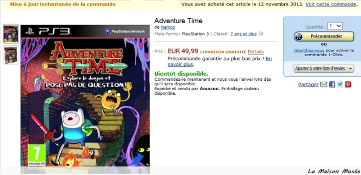 Commande Adventure Time Goodies