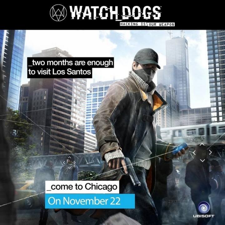 Publicite Artwork Watch Dogs PS3 Novembre