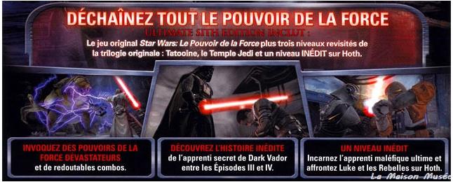 Contenu Sith Edition PS3 Star Wars
