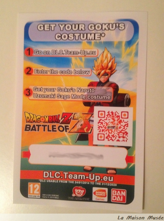 Code Gratuit DLC DBZ Battle of Z