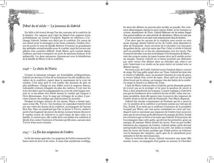 Contenu Manuscrit Maudit castlevania