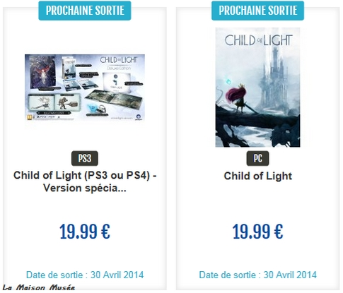 Prix Child of Light Collector