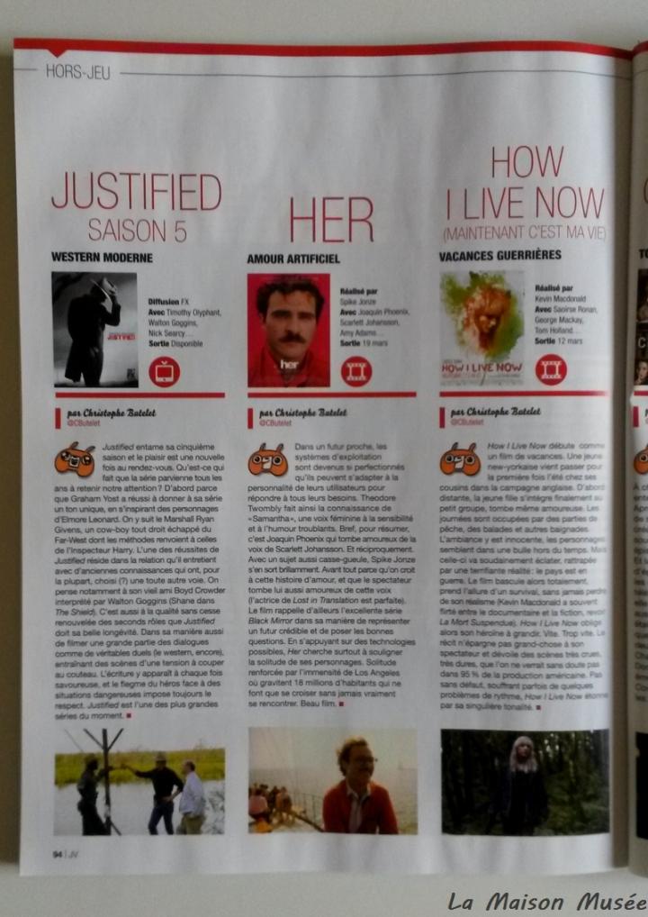 Hors Jeu Magazine Avis Cinema