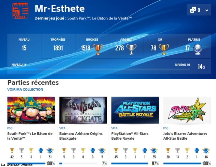 Blog Trophées PS4 PS3 PSVita