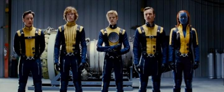 Couleur Costume Premiers X-Men