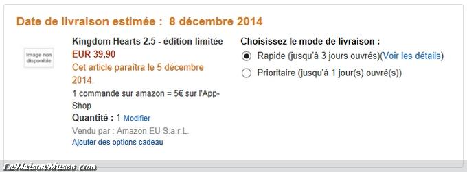 Précommande faite via Amazon.fr pour des questions pratiques !