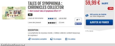 Tales of Symphonia HD Collector Bon Plan