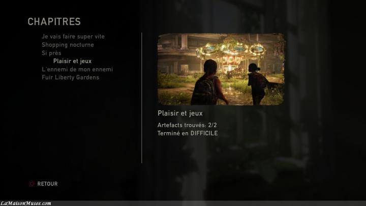 """6 chapitres font parties du DLC """"Left Behind""""."""
