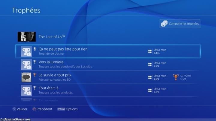 Un défi quasi naturel s'impose : le retour sur PlayStation 3 pour débloquer le Platine The Last of Us !