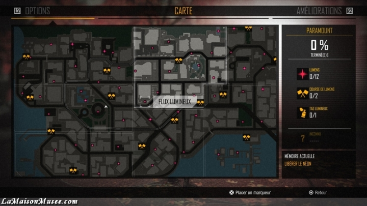 Map inFamous First Light Trophée