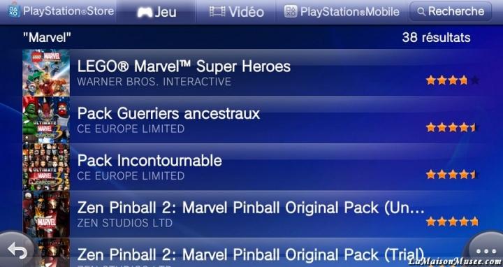 Costumes PSN Network Marvel