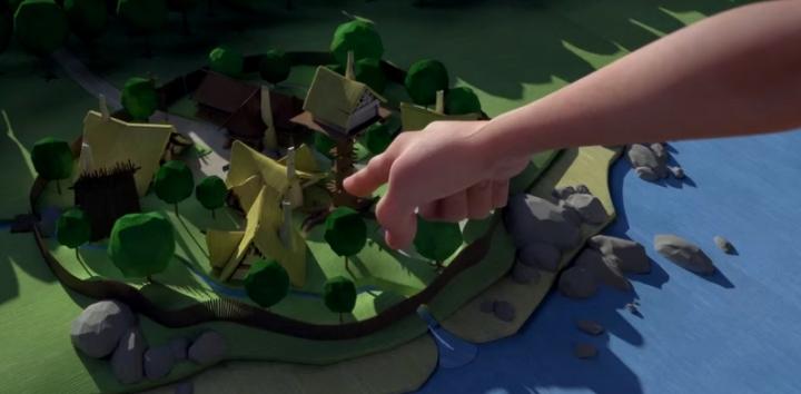 Village Asterix Animation 3D
