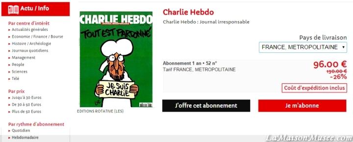 Abonner Charlie Hebdo Internet