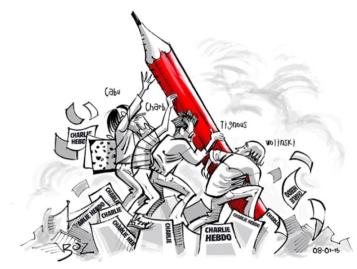 Dessinateur Hommage Charlie Hebdo