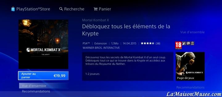 Contenu MKX PS4
