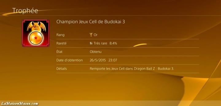 Jeux de Cell conditions deblocage