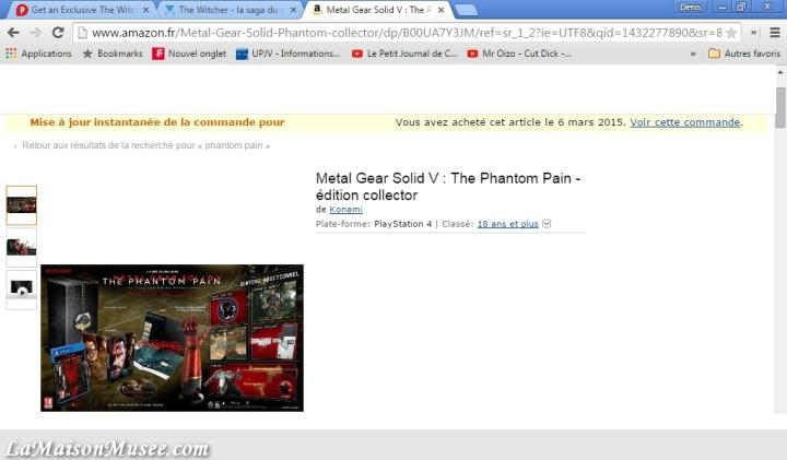Collector MGS 5 Phantom Pain Prix