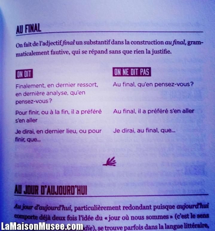 Au final correct ou incorrect français