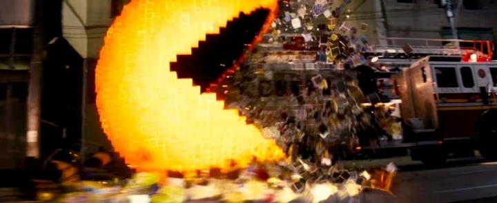Effets speciaux Pac Man Pixels