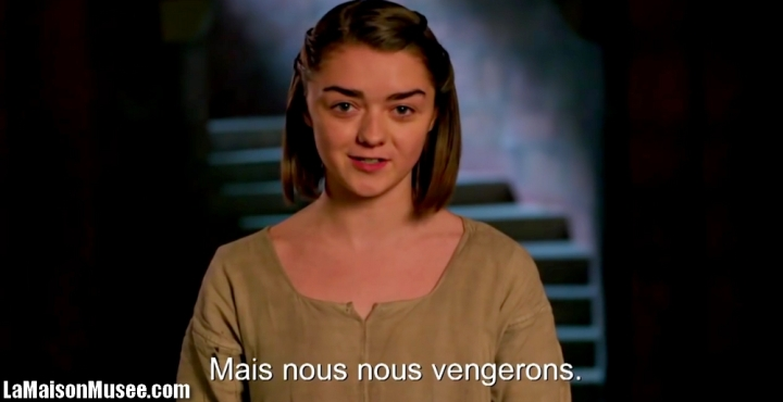 Maisie Williams Accueil Maison Stark