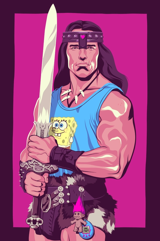 Arnold Schwarzenegger Retro design