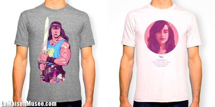 Schwarzenegger et Emilia Clarke Tee Shirts