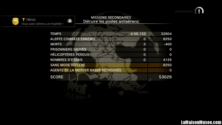 Rang S Missions Ground Zeroes Classement