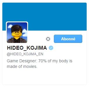 Biographie Hideo Kojima Twitter
