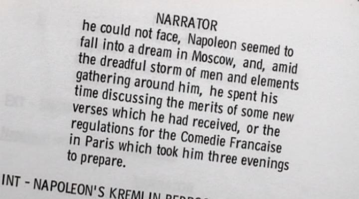 Script Napoleon Document officiel