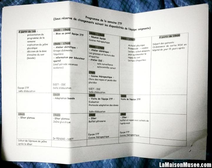 Planning ITF Amiens CHU Diabetologie